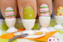 Piggieluv: Easter Eggs For Breakfast, Crazy 3D Nail Art intended