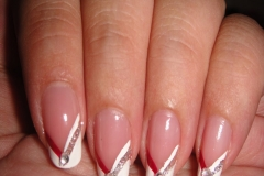 Best of red and white french manicure ideas manicure pinterest