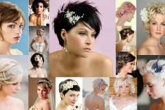 2018 Wedding Hairstyles and Make Up Guide For Short Hairs